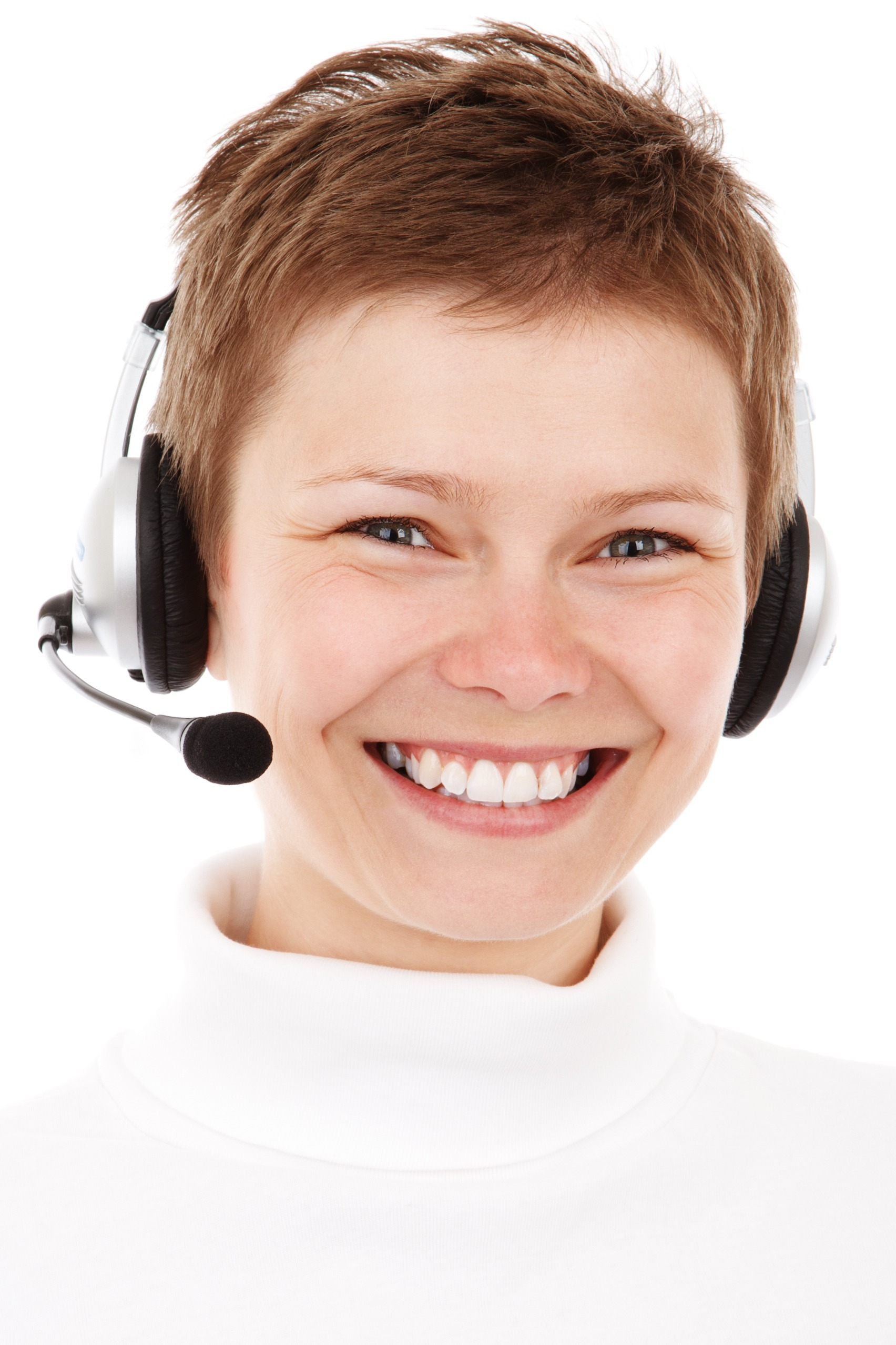 Canva - Customer Service Operator On White Background