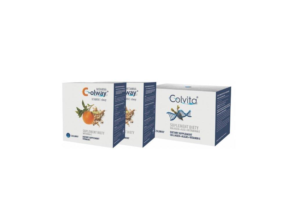 Sada Colvita 120 kapslí a 2x Vitamín C-olway