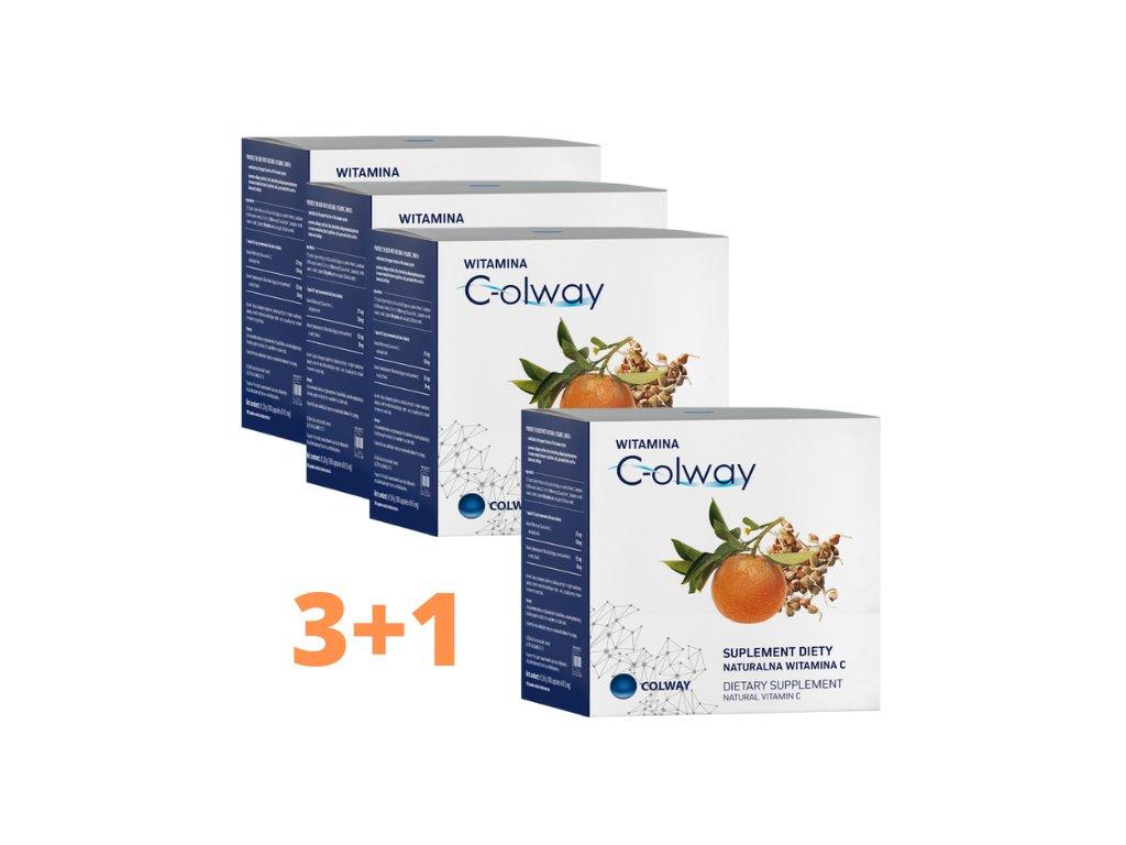 Vitamín C-olway  3+1 ZDARMA 100% Přírodní Levotočiva Forma Vitamínu C
