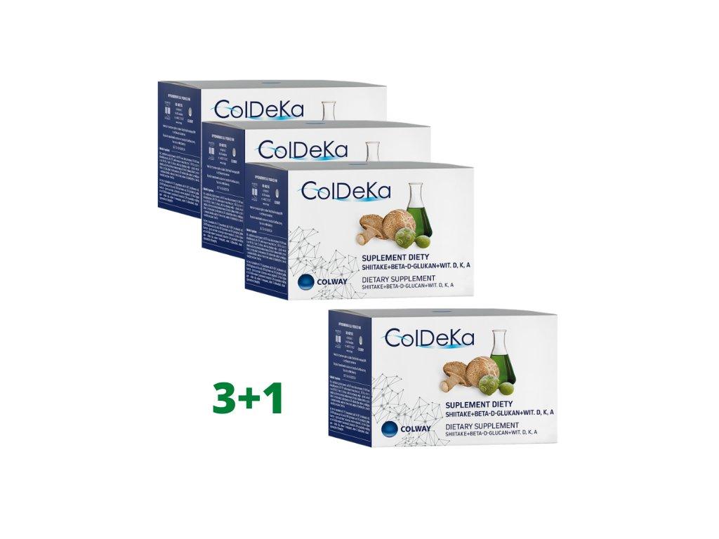 ColDeKa 3+1 ZDARMA - Vitamín A, D3, K2 a beta-D-glukan