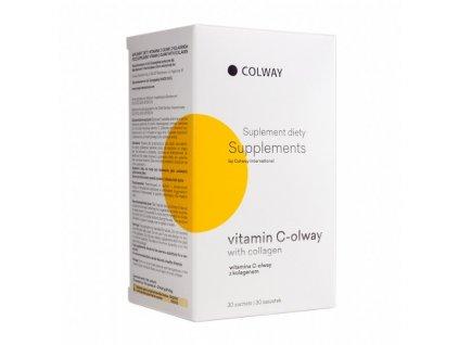 Vitamín C-olway s Kolagenem - 100% Přírodní Levotočiva Forma Vitamínu C + nejlepší KOLAGEN
