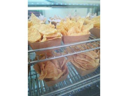 Nachos chips con chedar