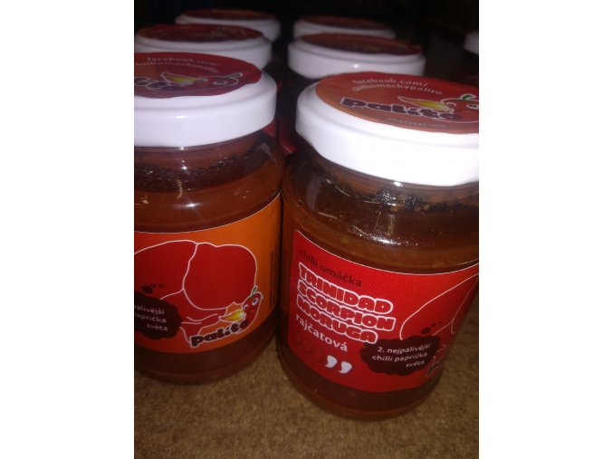 Tomatová chilli omáčka – Trinidad Scorpion Moruga 100ml