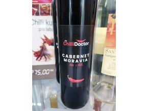 víno červené Cabernet moravia s chilli