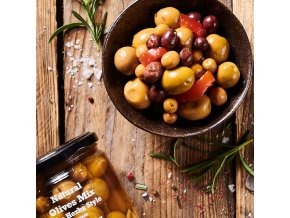 Olivy LOSADA Mix s bylinkami a česnekem 345g