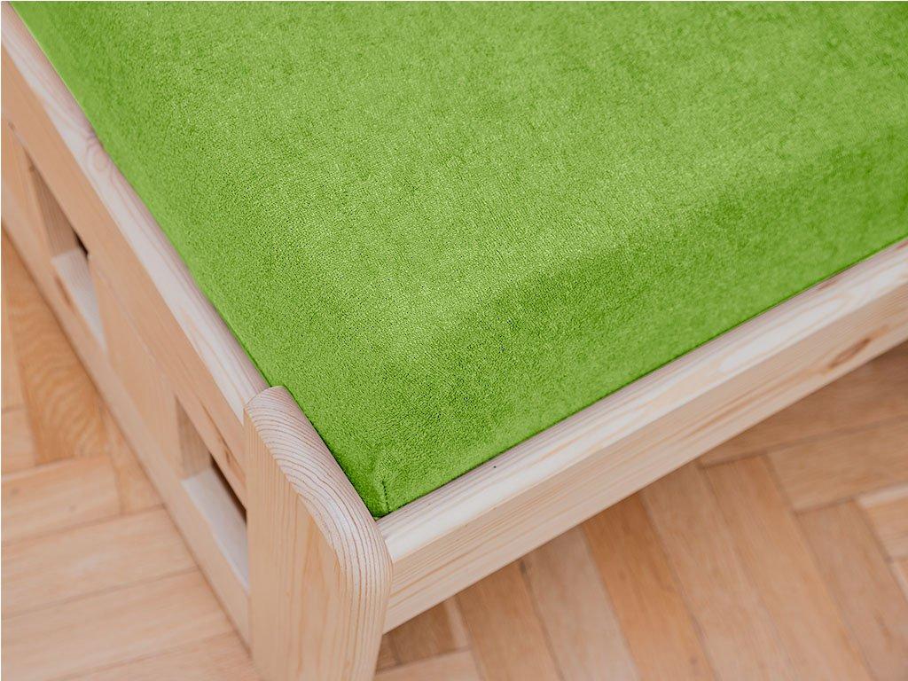 Cearșaf Terry 90x200 cm verde
