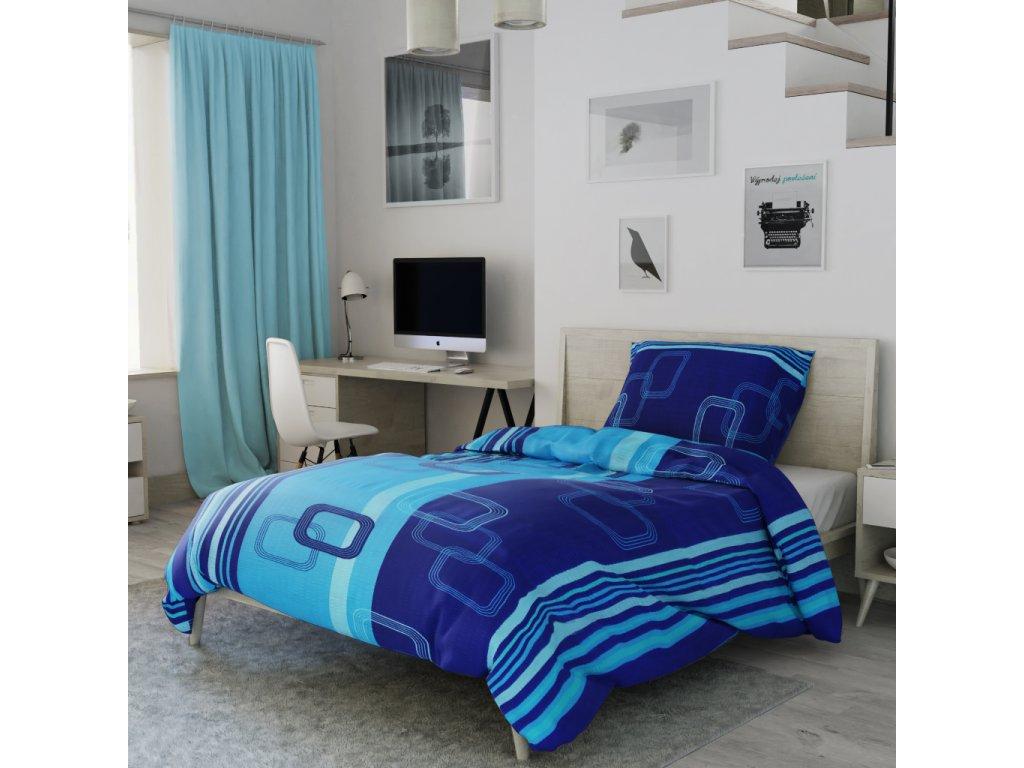 Lenjerie de pat bumbac Tonda albastră