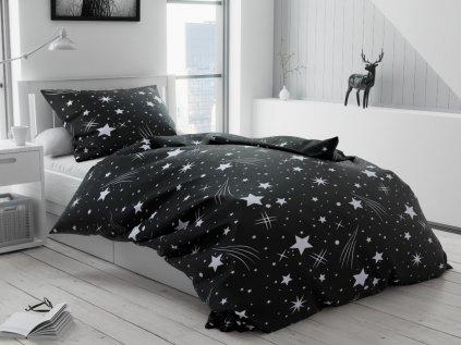 Lenjerie de pat creponată Cerul de noapte negru