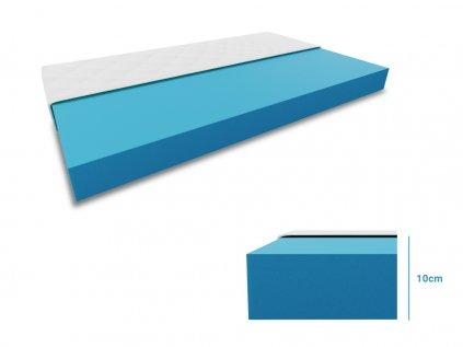 Pěnová matrace 1+1 Economy 2ks 80x200 cm (Ochrana matrace VČETNĚ chrániče matrace)