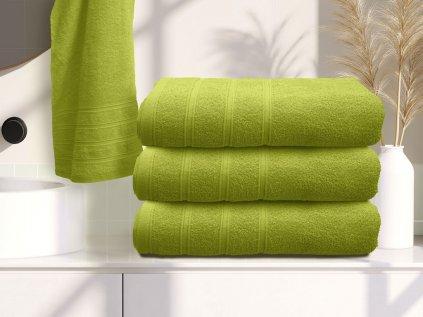 Ručník bavlněný 50 x 100 cm zelený