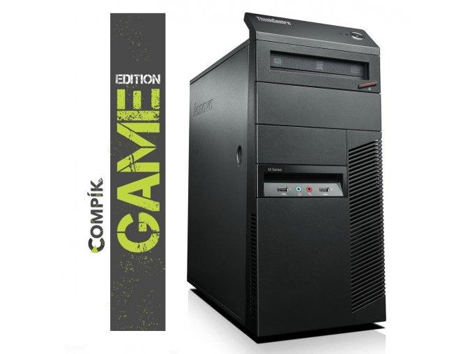 TRHÁK Herní PC Lenovo M91p s Intel i5-2500/ Nvidia GTX 1050Ti 4GB/ 8GB/ 500GB/ DVDRW/ W7/10 Pro