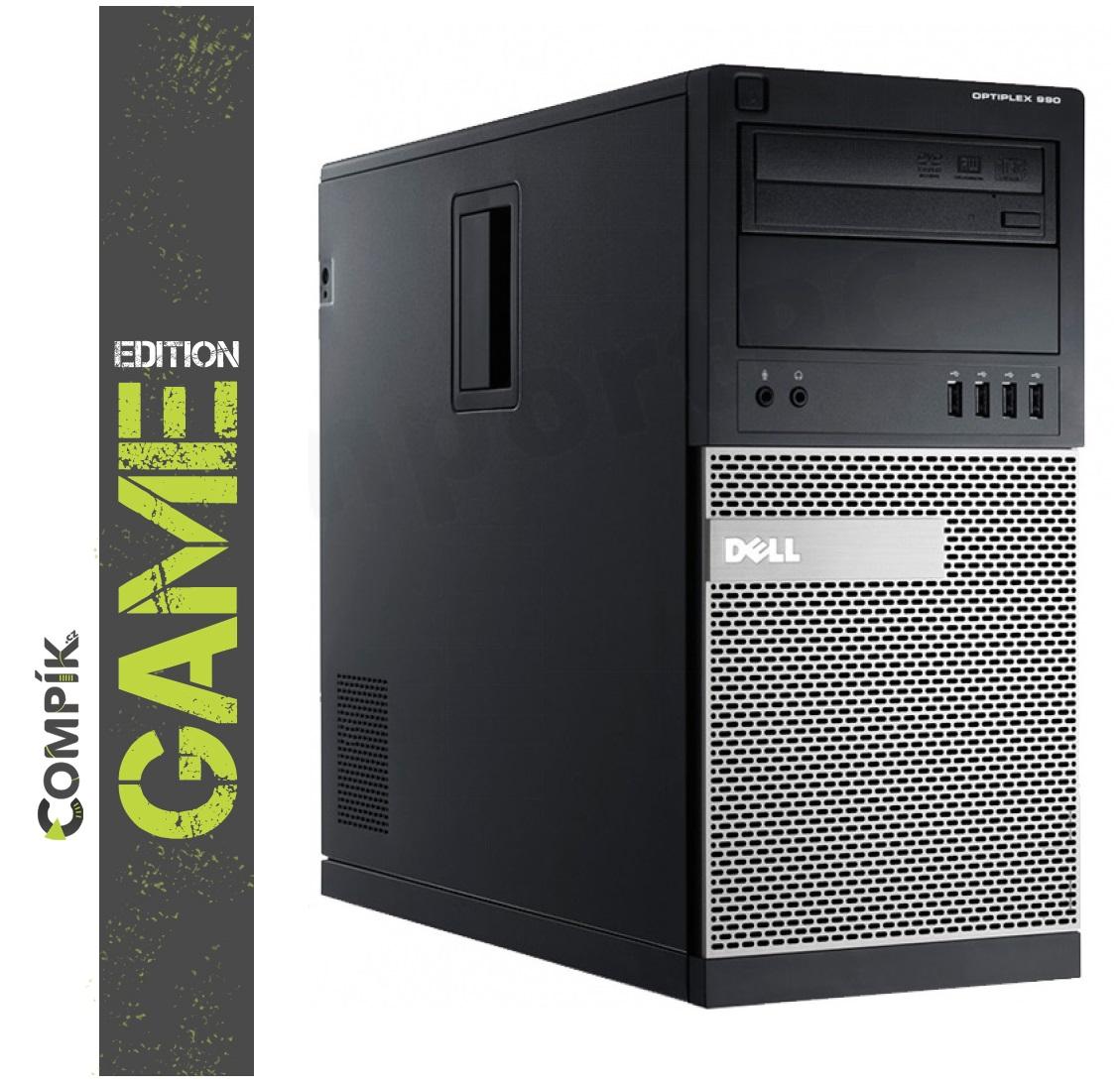 Herní PC Dell 7020 s Intel i5-4570/ Nvidia GTX 1650 4GB/ 8GB/ 500GB/ DVDRW/ W10 Pro