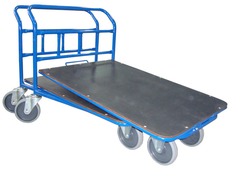 Plošinové vozíky se zasouvací plošinou