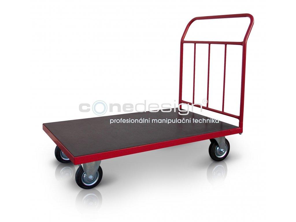 Plošinový vozík 1 x madlo se svislými příčkami 500 kg PROFI 52608-01  500 kg - zesílené provedení
