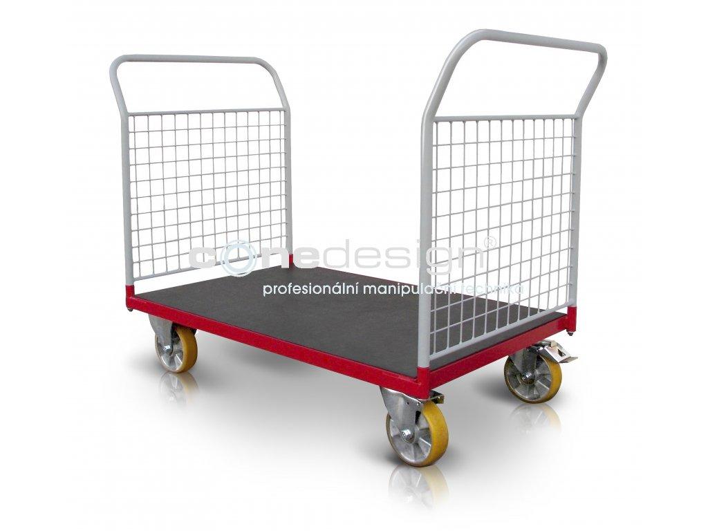 Plošinový vozík 2 x madlo se sítí 500 kg PROFI 52608-22  500 kg - zesílené provedení