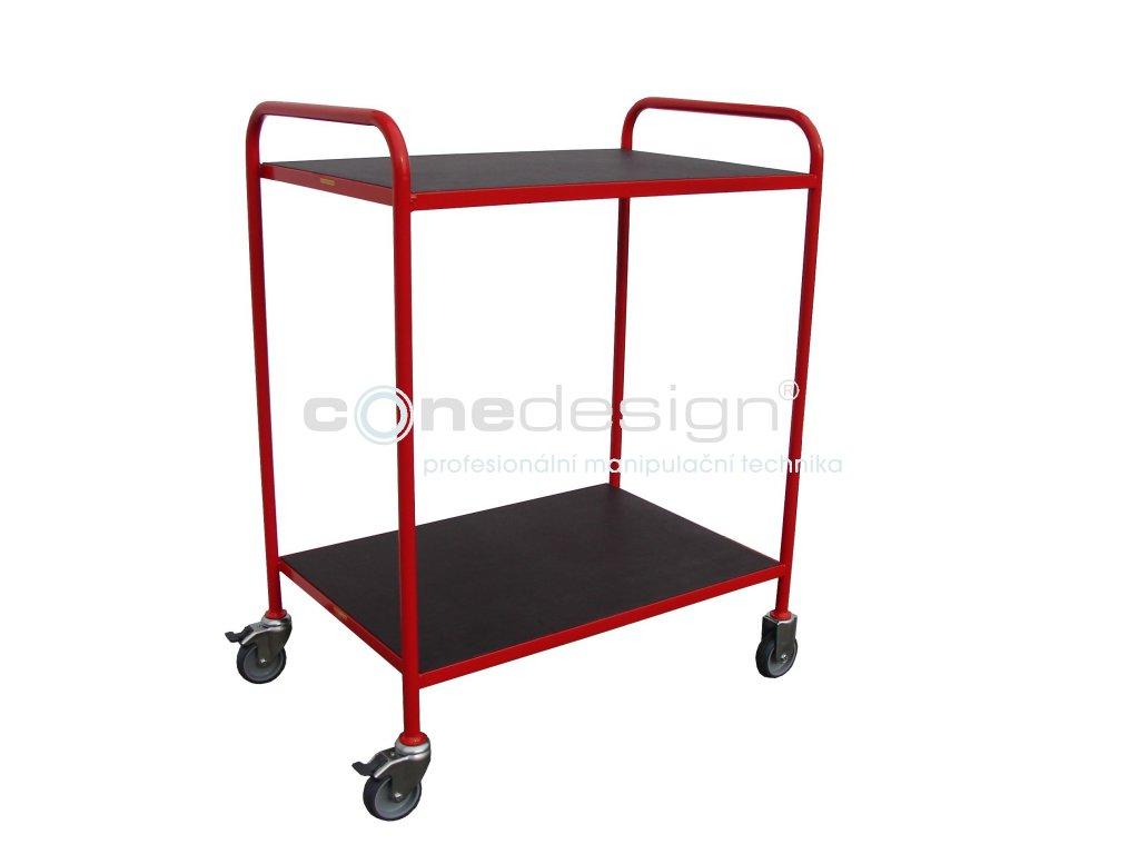 Policový vozík 2 police 2 x 70 kg 60002-04