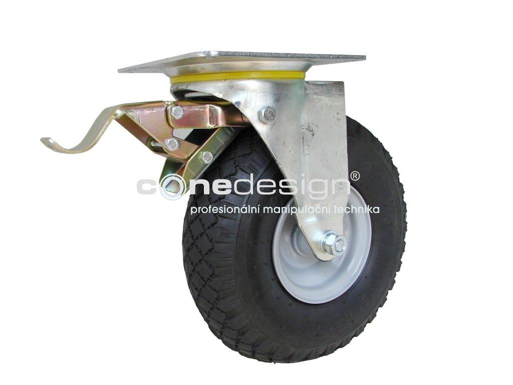 Kolečko otočné s brzdou 3,00-4 130 kg 16260-12  Průměr 260 mm