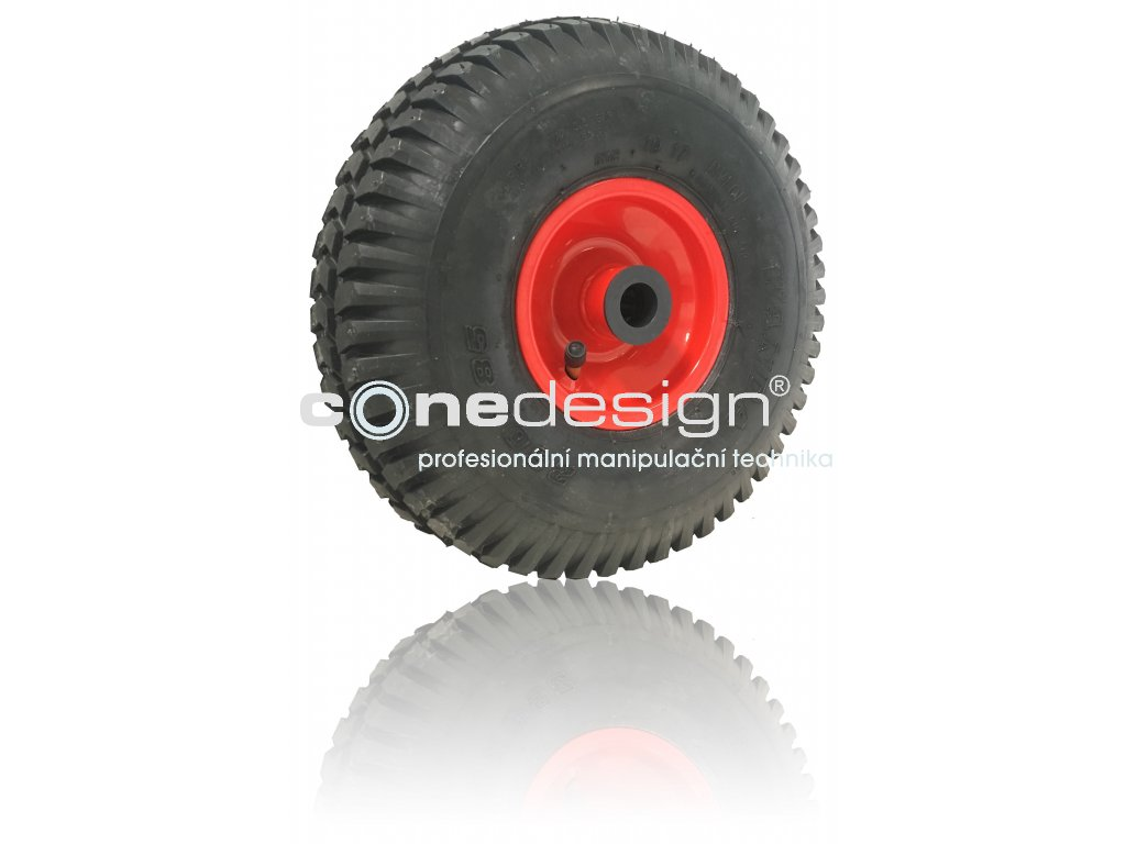 Kolečko nafukovací 4.10/3.50 - 4 150 kg 3821-99  Náboj 20 x 75 mm - vhodné k rudlu