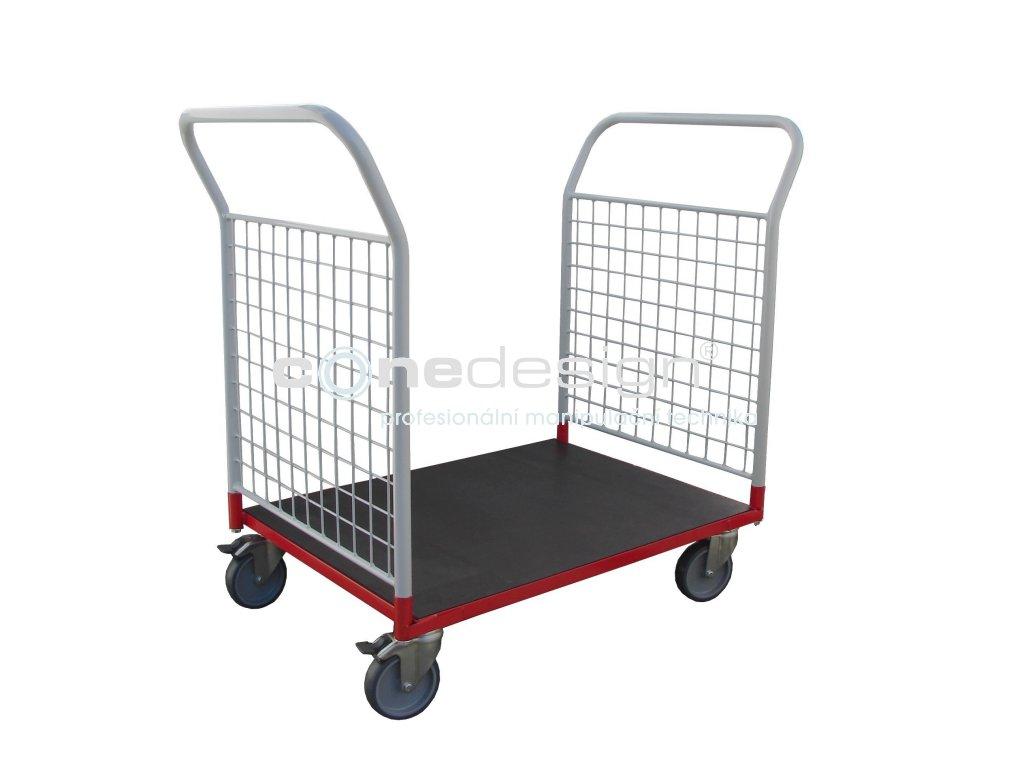 Plošinový vozík 800 x 600 2 x madlo se sítí 150 kg 51035-01