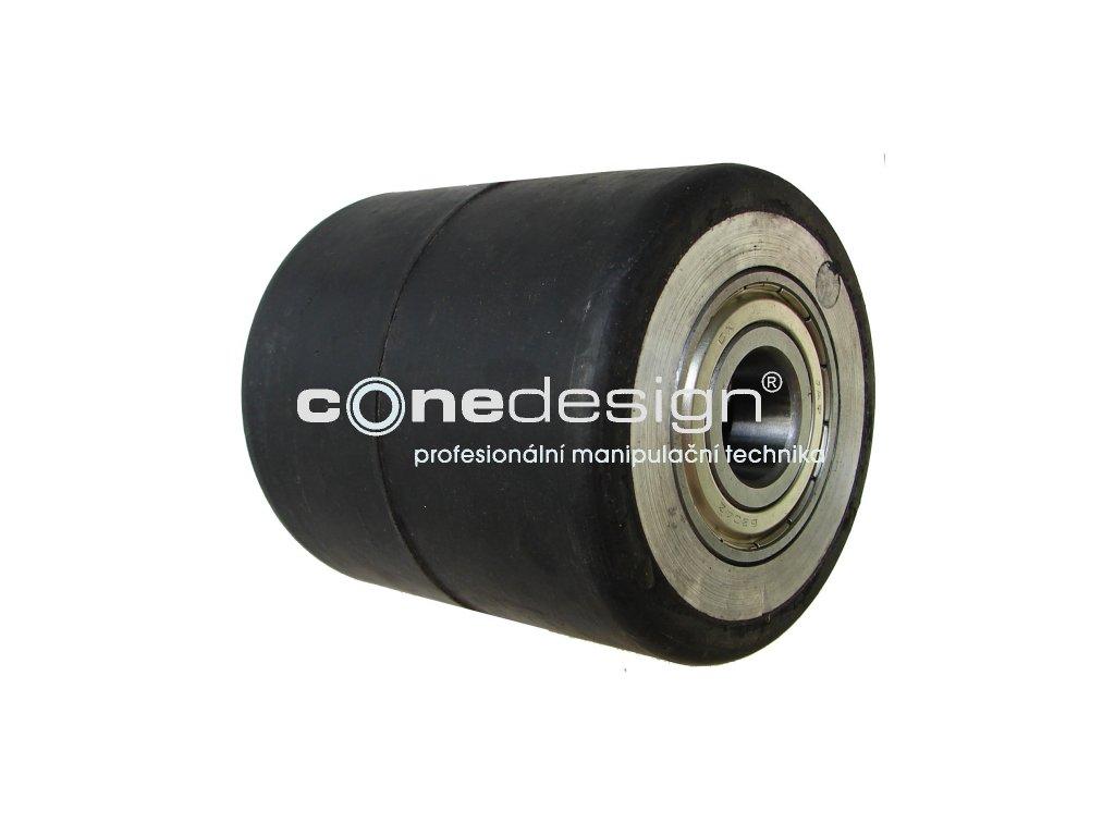 Kolečko zadní hliníkový střed gumová obruč průměr 90 mm 400 kg 14082-83