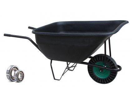 Zahradní MEGA kolečko 210 l ZDVOJENÁ KULIČKOVÁ LOŽISKA 98103,04  NEJPEVNĚJŠÍ zahradní kolečko na trhu s plným kolem