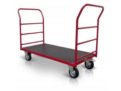 Plošinový vozík 2 x madlo s vodorovnými příčkami 500 kg PROFI 52608-12  500 kg - zesílené provedení