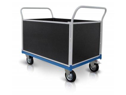Plošinový vozík 2 x madlo 2 x bočnice s deskou 500 kg PROFI 52711-71  500 kg - zesílené provedení