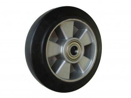 Kolečko přední hliníkový střed gumová obruč průměr 200 mm 400 kg 14200-02