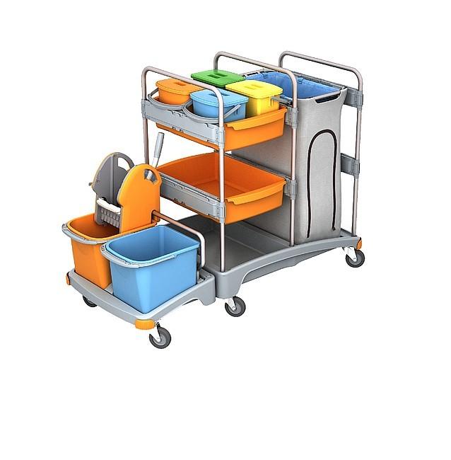 Profesionálne upratovacie vozíky