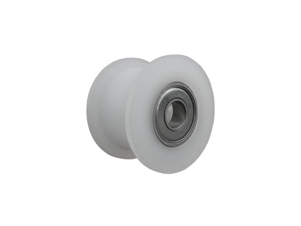 Kladka polyamidová s hranatým osazením s kuličkovým ložiskem 87040-03 (Nosnost (kg) 60, Vnější Ø / Osa Ø (mm) 56/15, Celková šířka (mm) 14)