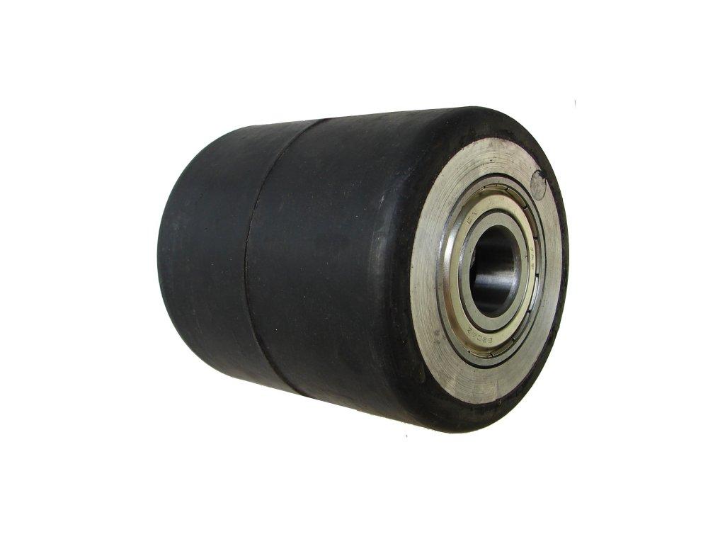 Kolečko zadní hliníkový střed gumová obruč průměr 82 mm 400 kg 14082-83