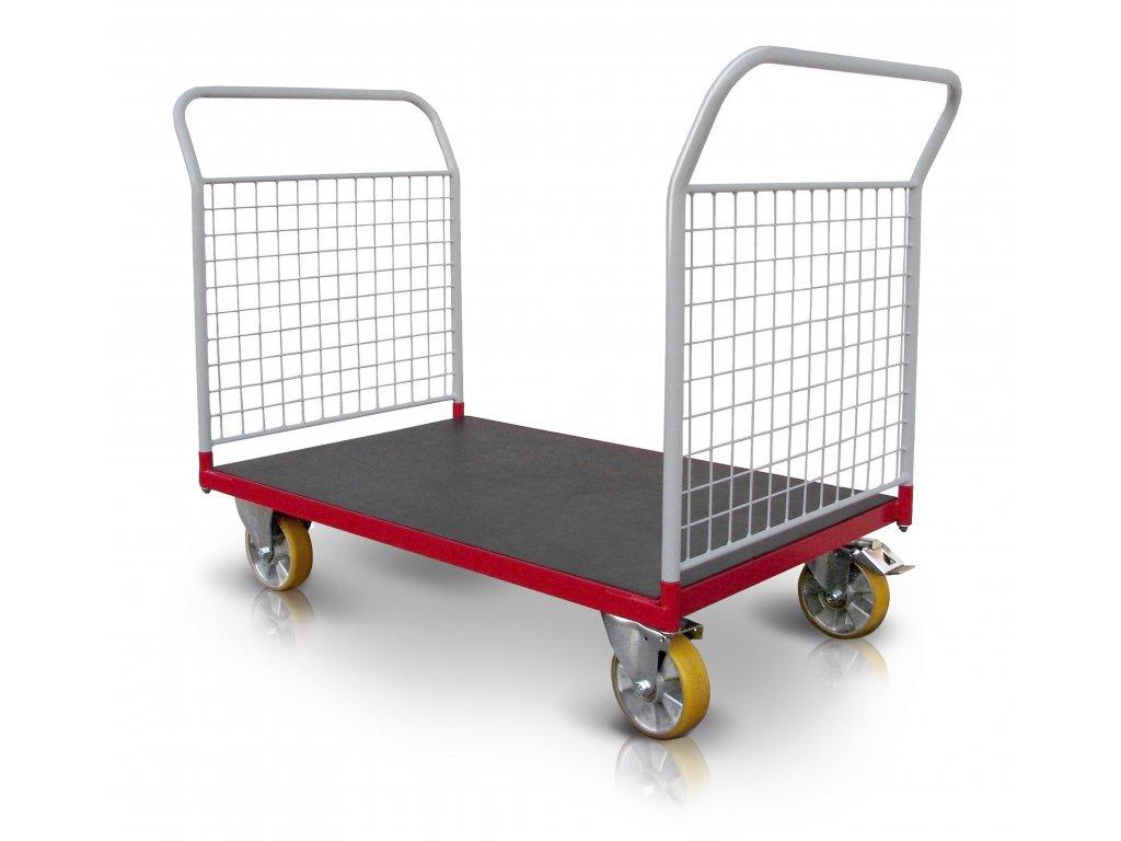 Plošinový vozík 2 x madlo so sieťou 500 kg PROFI 52608-22