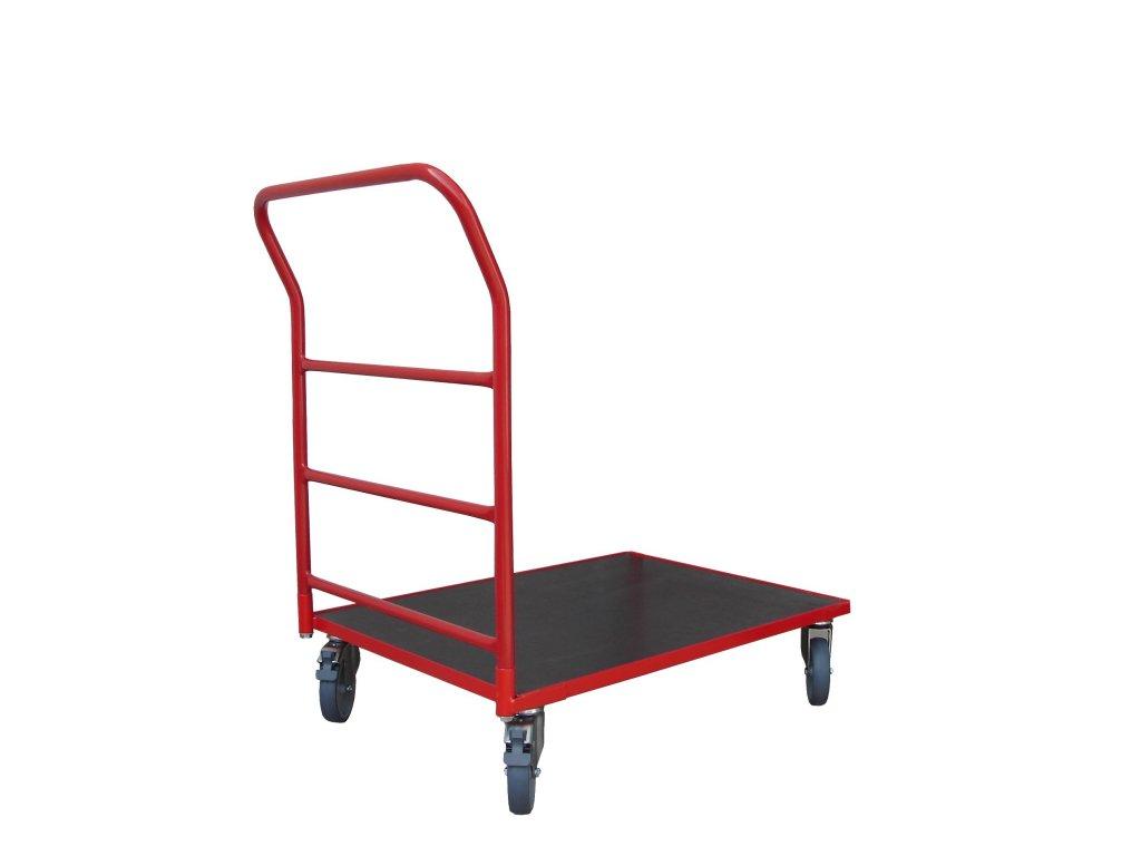 Plošinový vozík 800 x 600 1 x madlo s vodorovnými priečkami 150 kg 51035-03