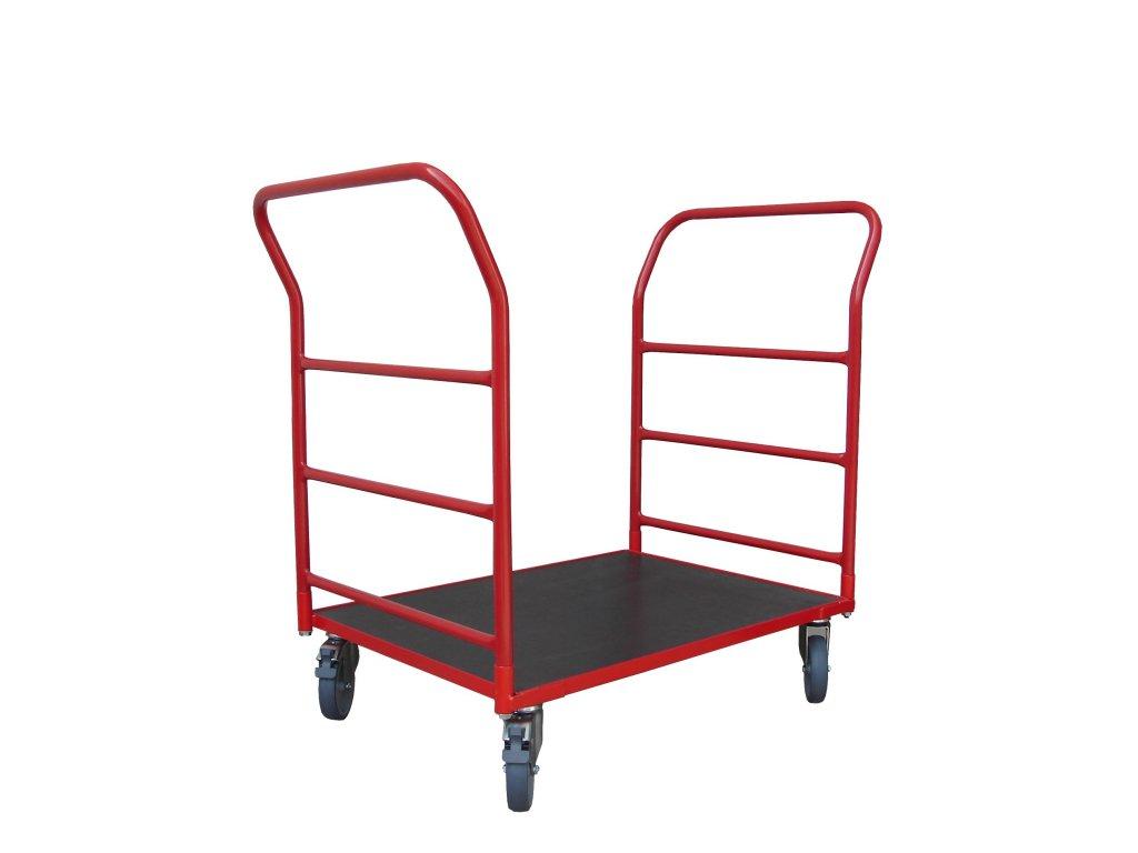 Plošinový vozík 800 x 600 2 x madlo s vodorovnými priečkami 150 kg 51035-02