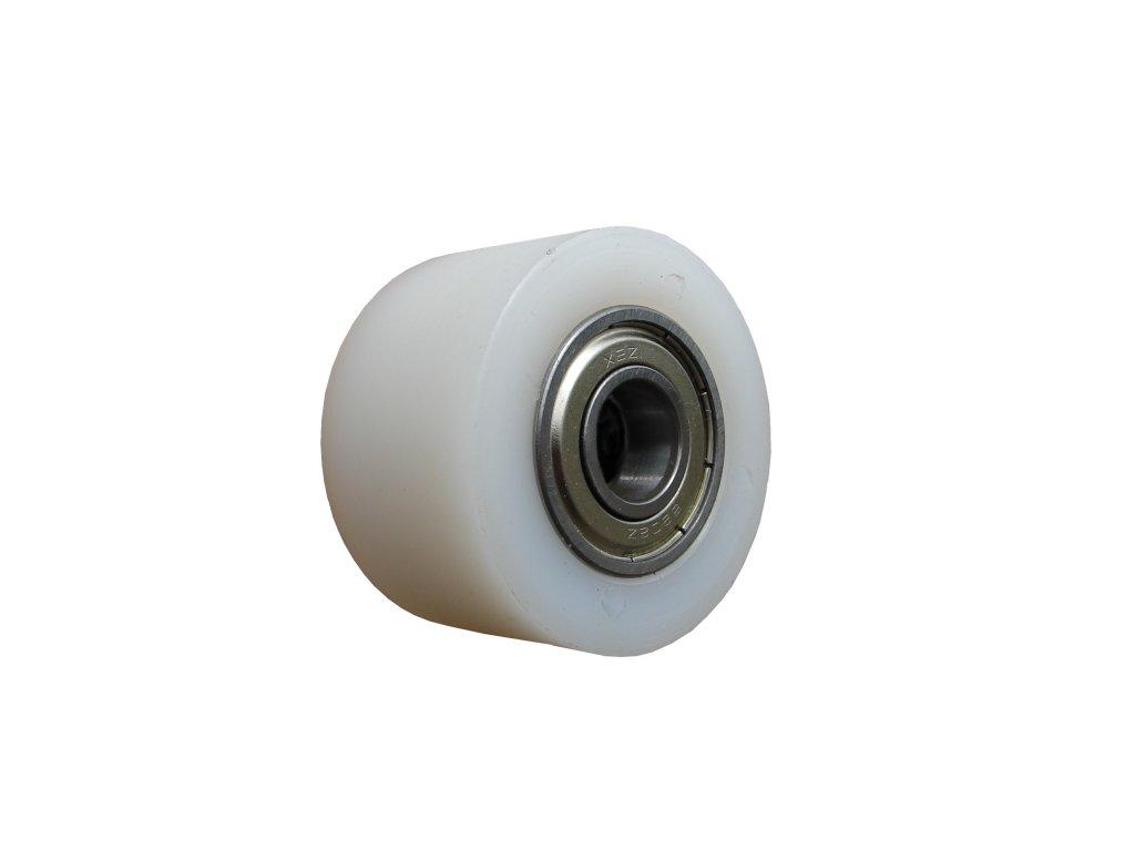 Válečky polyamidové s jedním kuličkovým ložiskem 83528-01 (Nosnost (kg) 60, Vnější Ø / Osa Ø (mm) 38/8, Celková šířka (mm) 15)