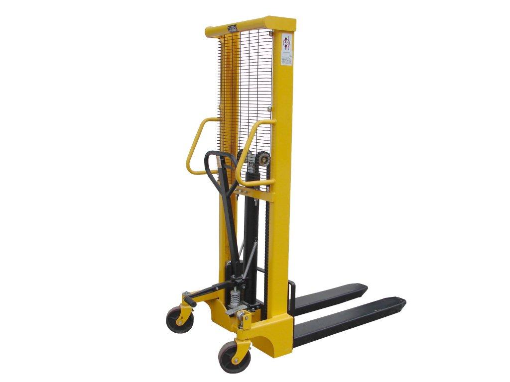 Vysokozdvižný vozík ruční zdvih 1600 mm nosnost 1500 kg 22004-02 (Materiál kol Přední polyuretan / hliník - Zadní polyuretan / kov)
