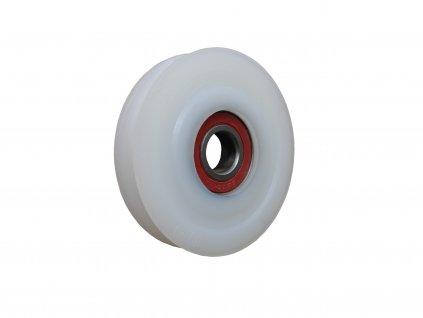 Kladka polyamidová s radiusem s kuličkovým ložiskem 87045-02 (Nosnost (kg) 80, Vnější Ø / Osa Ø (mm) 80/12, Celková šířka (mm) 28)