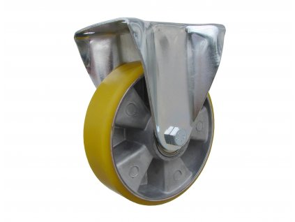 kolečka pevná s konzolou, polyuretanová obruč 55125-16 (Průměr kola (mm) 250, Nosnost (kg) 300, Rozteč otvorů (mm) 107 x 80)