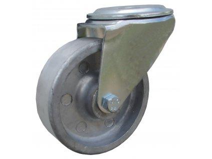 Kolečko otočné  s otvorem pro vysoké teploty 47100-21 (Průměr kola(mm) 180, Nosnost(kg) 180, Celková výška(mm) 217)
