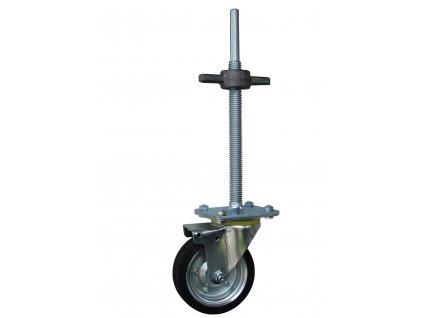 Kolečko otočné pro lešení s výškovou regulací 11501-01 (Průměr kola(mm) 200, Nosnost(kg) 250, Celková výška(mm) 738.)