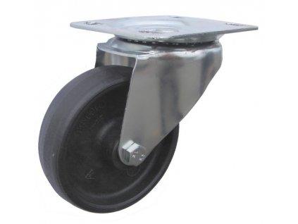 Kolečko otočné s přírubou pro vysoké teploty 46080-05 (Průměr kola (mm) 160, Nosnost (kg) 100, Rozteč otvorů (mm) 80 x 70)