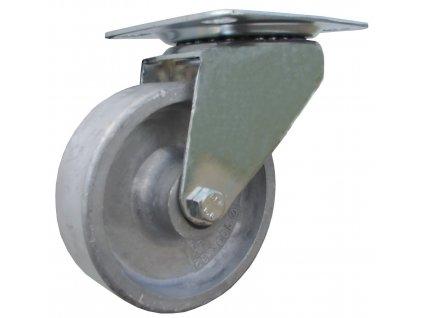Kolečko otočné s přírubou pro vysoké teploty 47100-05 (Průměr kola (mm) 160, Nosnost (kg) 200, Rozteč otvorů (mm) 80 x 107)
