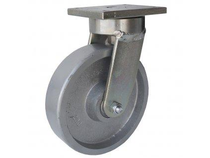 Kolečko otočné s přírubou, vysoká nosnost 48080-06 (Průměr kola (mm) 200, Nosnost (kg) 1200, Rozteč otvorů (mm) 80 x 107)