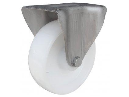 Kolečko pevné s nerezovou konzolou, polyamidové 50080-14 (Průměr kola(mm) 200, Nosnost(kg) 180, Ložisko kluzné)