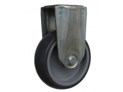 Kolečko pevné se středovým otvorem, termoplastická guma 40080-79 (Průměr kola(mm) 125, Nosnost(kg) 100, Celková výška(mm) 160)