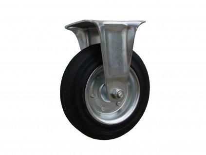 Kolečko pevné, černá pryž 31100-14 (Průměr kola (mm) 200, Nosnost (kg) 205, Rozteč otvorů (mm) 105 x 80/75)