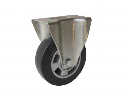 KOLEČKO PEVNÉ, ELASTICKÁ PRYŽ 37125-16 (Průměr kola (mm) 250, Nosnost (kg) 400, Rozteč otvorů (mm) 160 x 120)