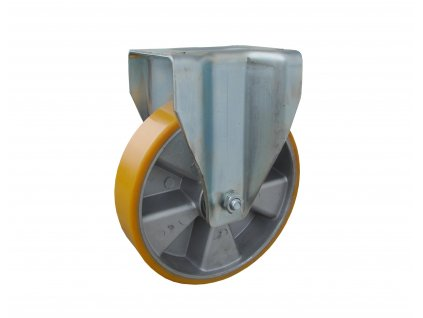 kolečko pevné, polyuretanová obruč 35160-16 (Průměr kola (mm) 250, Nosnost (kg) 1500, Rozteč otvorů (mm) 160 x 120)