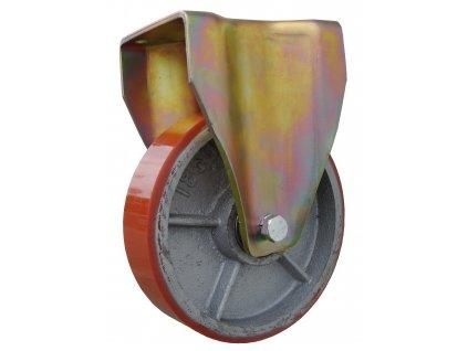 Kolečko pevné, polyuretanová obruč 39180-16 (Průměr kola (mm) 250, Nosnost (kg) 1500, Rozteč otvorů (mm) 160 x 120)