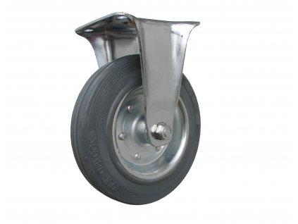 Kolečko pevné, šedá pryž 64125-14 (Průměr kola (mm) 200, Nosnost (kg) 205, Rozteč otvorů (mm) 105 x 80/75)